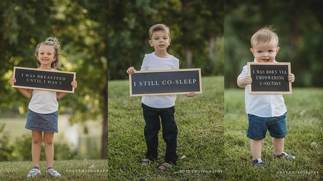 A través de fotografías, los niños muestran las múltiples razones por las que sus madres son criticadas