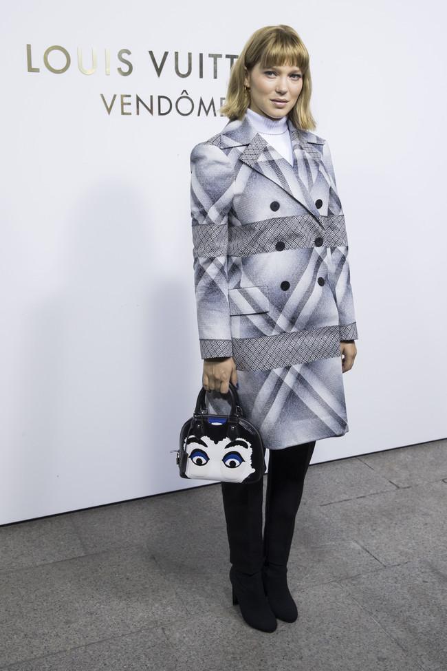 louis vuitton paris celebrities vendome Léa Seydoux