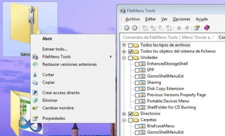 Limpia el menú secundario de Windows con FileMenu Tools‏