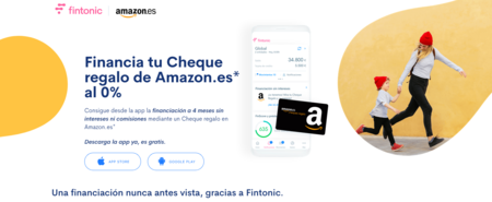 Financiación a 4 meses, sin intereses ni comisiones, en Amazon gracias a Fintonic