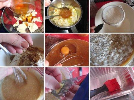Preparación de bizcocho de melaza especiado