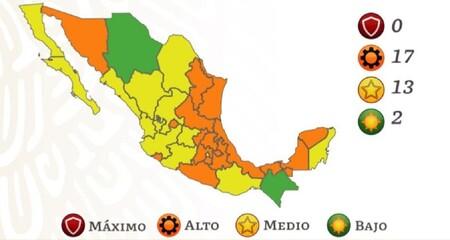 México se queda sin estados en semáforo rojo por COVID: todo el país abandona el máximo estado de alerta por contagio