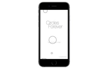 Circles Forever, usando 3D Touch como método de control
