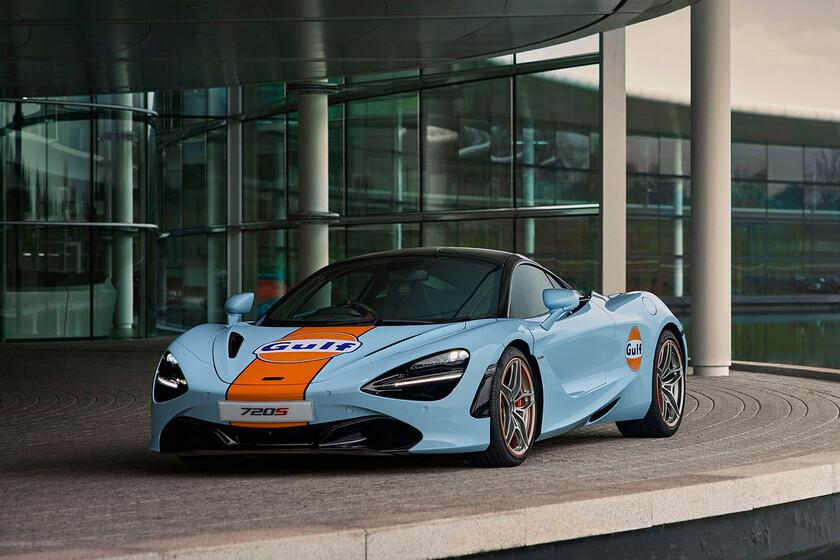 ¡Legendario! El superlativo McLaren 720S acompaña sus más de 700 CV con el traje del mítico F1 GTR Gulf