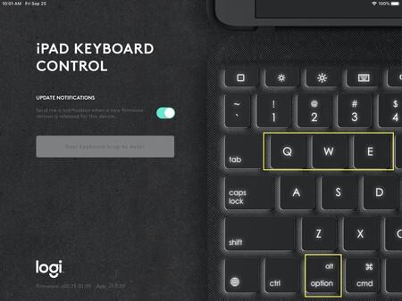 Raton Logitech Combo Touch Ipad