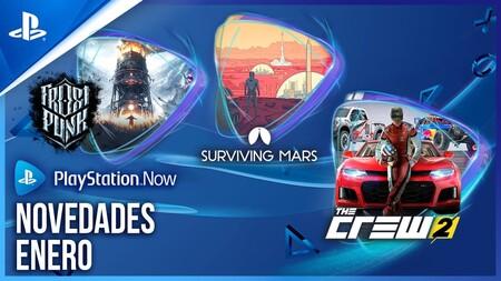 The Crew 2, Frostpunk y Surviving Mars son los juegos que se unen al catálogo de PlayStation Now en enero