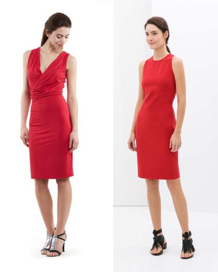 Zapa Zara vestido rojo
