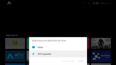 Android Tv Launcher Defecto