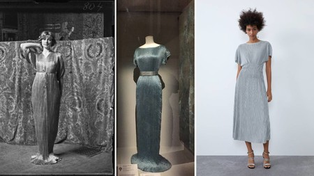 La versión del vestido Delphos de Mariano Fortuny que sacó Zara esta temporada ha llegado a las rebajas (en todas las tallas) y es una compraza (cuesta 12 euros)