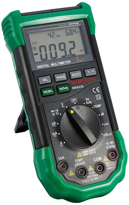 El multímetro digital Mastech MS8229 5-en-1 está rebajado a 39,99 euros en Amazon