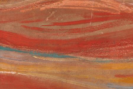 """Pintura de 'El Grito' ampliada donde se lee la fras """"Sólo pudo haber sido pintado por un loco""""."""