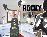 ¿Peleado con la cocina? Guantes de horno y delantal de Rocky Balboa