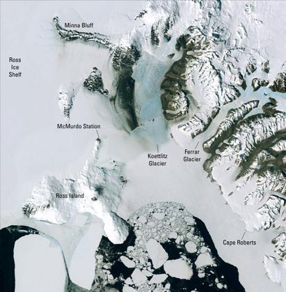 Landsat Image Mosaic of Antarctica, la Antártida en imágenes de alta resolución