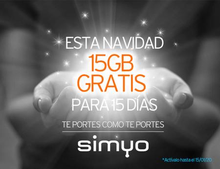 Simyo regala 15 GB por navidad
