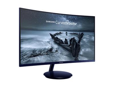 Samsung apuesta de nuevo por la curva con el Samsung C27H580 en el que incluso encontramos entrada VGA