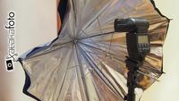 Truco Express: Concentrar la luz de un flash mediante un paraguas