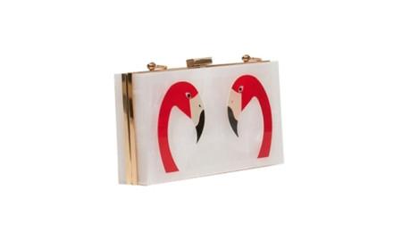 Bolso Caja Flamencos