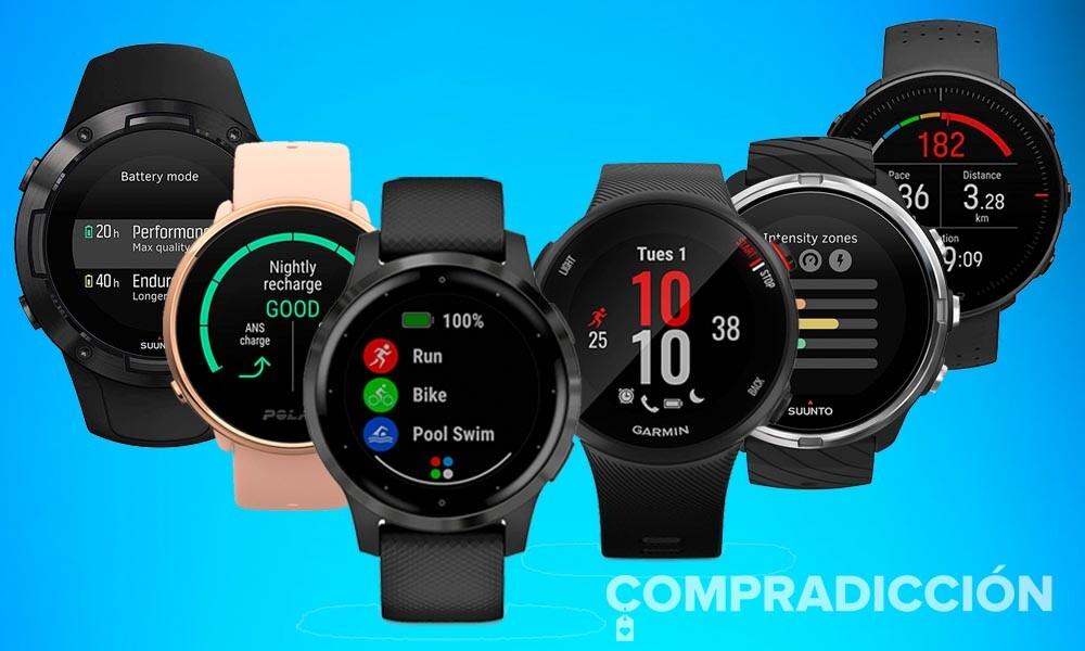 17 relojes deportivos de Garmin, Polar y Suunto para tener bajo control tus entrenamientos