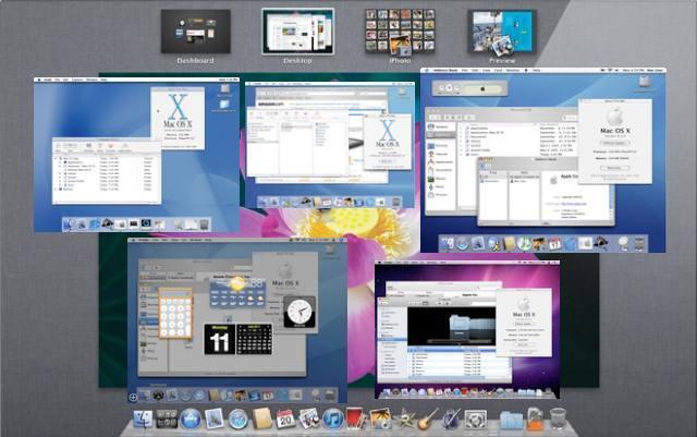 Pantallazo con diferentes versiones de Mac OS X