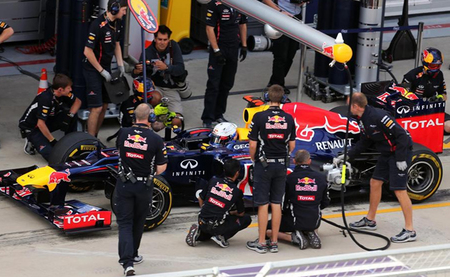 Sebastian Vettel marca el mejor tiempo en Yeongam, y Red Bull sigue siendo el equipo favorito
