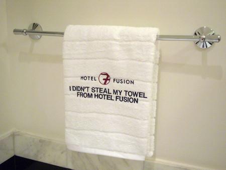 Hotel Fusion: te regalan la toalla para que no la robes