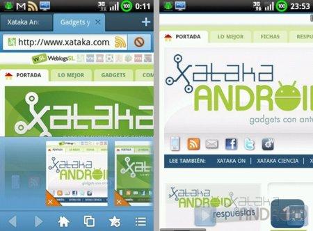 Pestañas en Maxthon Mobile