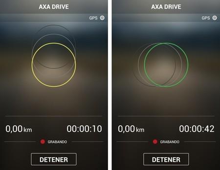 AXA Drive app grabando