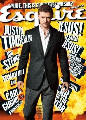 Justin Timberlake, intentando ir de malote la portada de Esquire