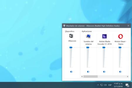 El mezclador de volumen en Windows 10 ya no existirá como lo conocemos