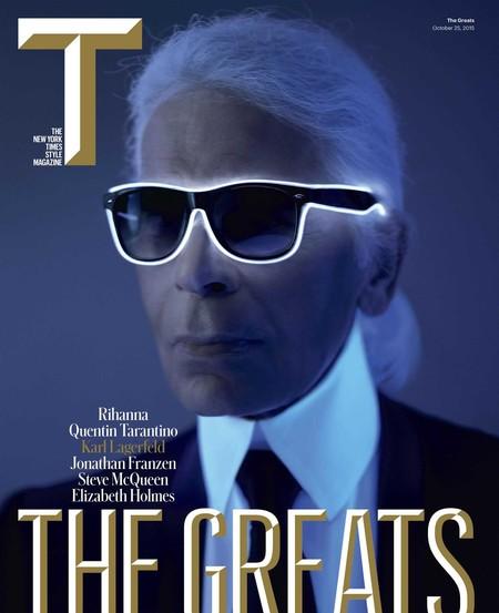 Karl Lagerfeld Cover T Magazine October 2015