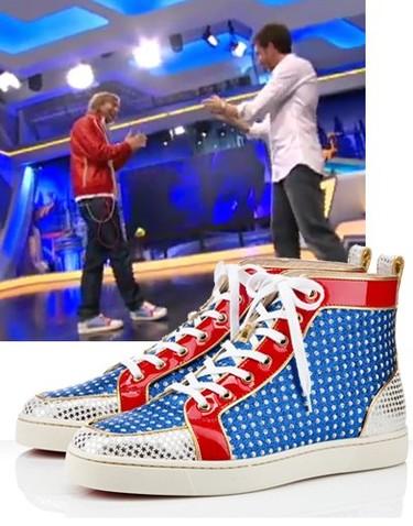 David Guetta visita El Hormiguero calzando Louboutin