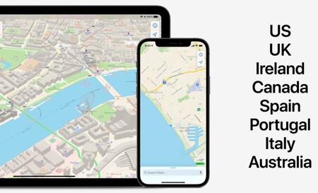 Los nuevos mapas de Apple Maps llegan a España de forma oficial con iOS 15: realidad aumentada para orientarnos y mucho más detalle