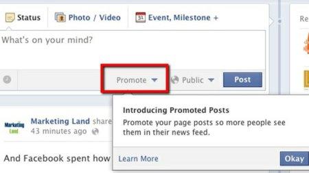 Llegan los post promocionados a las páginas de fans de Facebook