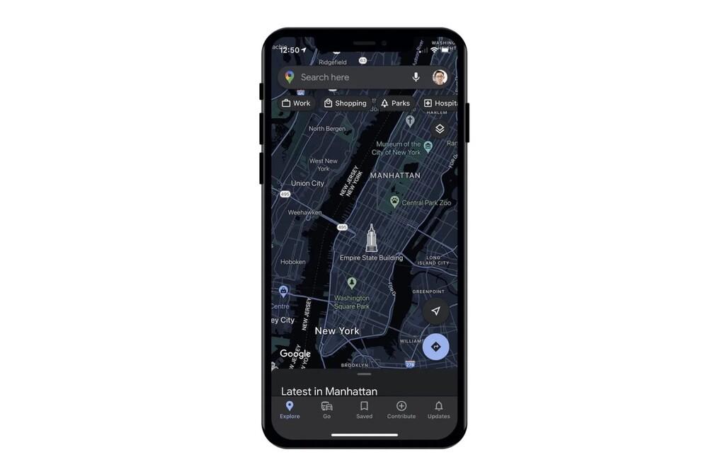 Google Maps añadirá manera oscuro casi dos años después del lanzamiento de iOS℗ 13