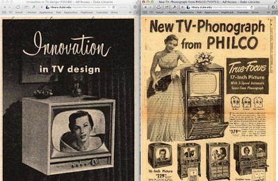 Publicidad de televisores, una colección para nostálgicos