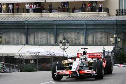 Fisichella, penalizado, saldrá último en Mónaco