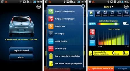 Carwings app para smartphone del Nissan LEAF