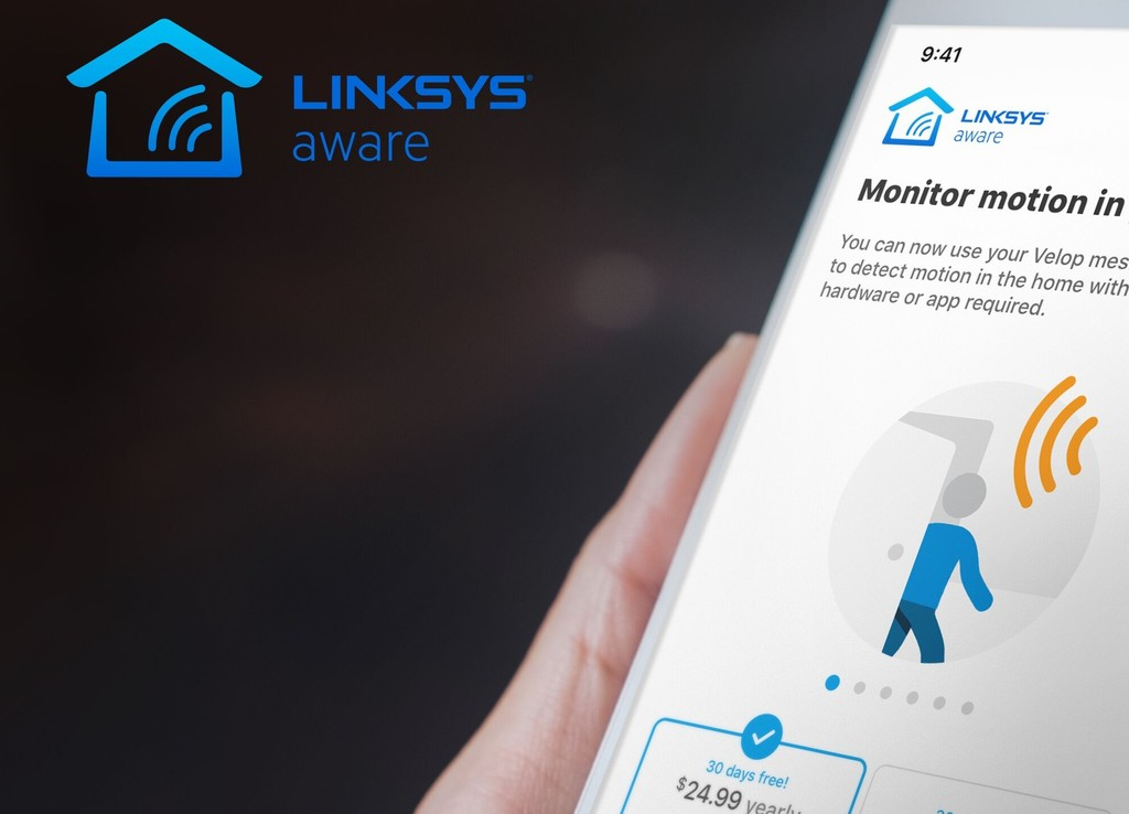 Linksys presenta Aware, su sistema de seguridad para el hogar que utiliza el WiFi de casa para detectar intrusos en la vivienda