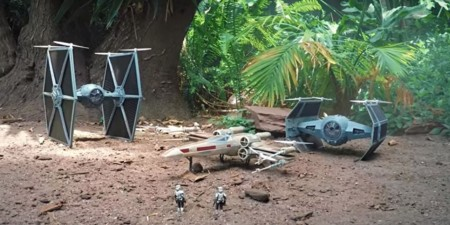 Fans de Star Wars recrean una espectacular batalla con drones