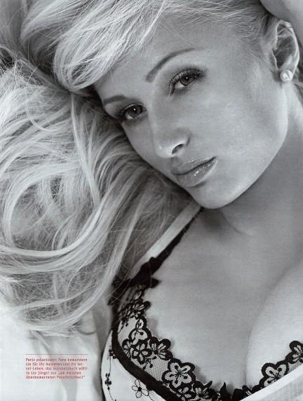 Foto de Paris Hilton en la revista GQ alemana, septiembre 2007 (3/4)