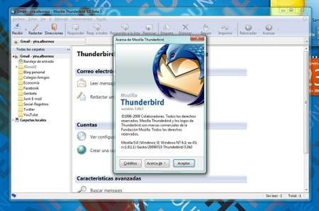 La Beta 3 de Thunderbird 3 ya está disponible para descarga