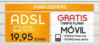 Jazztel lanza su oferta más convergente: 100 minutos y 100 Mb gratis en el móvil con su ADSL