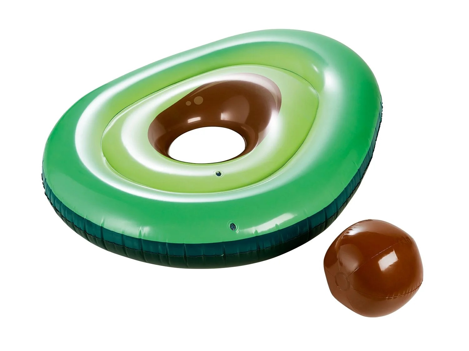 Colchón inflable aguacate