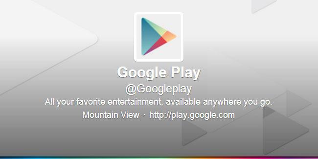 Cuenta oficial de Google Play en Twitter