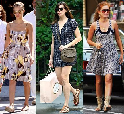 Las celebrities y sus vestidos de verano