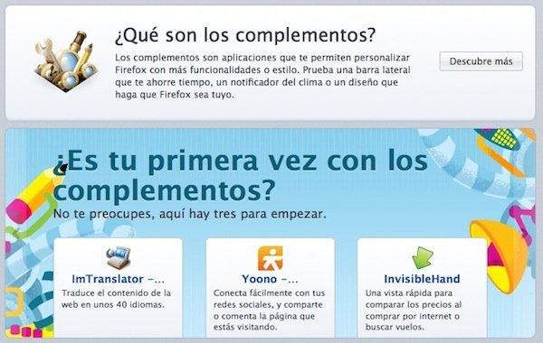 Complementos Firefox 4