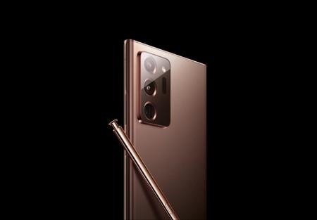 El supuesto Note 20 aparece en la página oficial de Samsung desvelando sus cámaras traseras y un color cobre