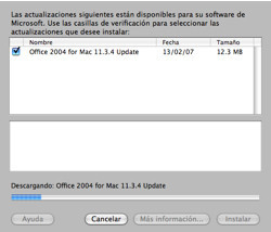 Nuevo update para Office 2004