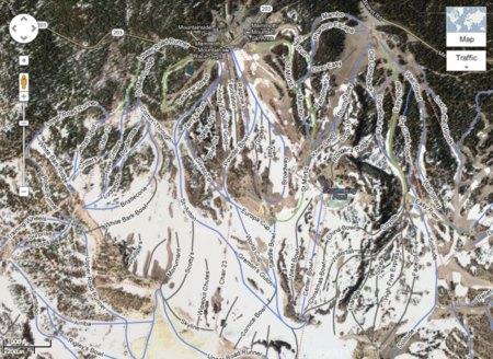 Google Maps Estaciones de esquí