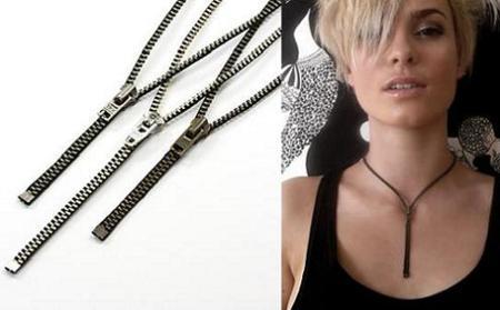 Zip-It Necklaces, collares hechos con cremalleras